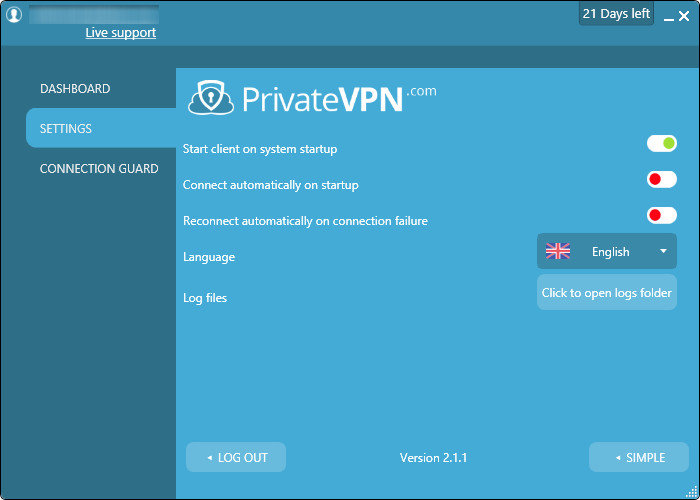 options private vpn
