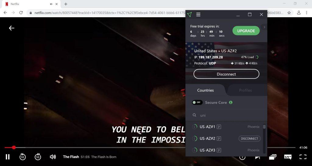 Regarder Netflix avec ProtonVPN
