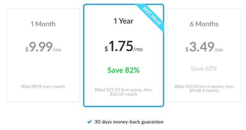 Les prix des abonnements Zenmate VPN