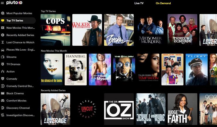 PlutoTV est des meilleurs sites streaming gratuits.